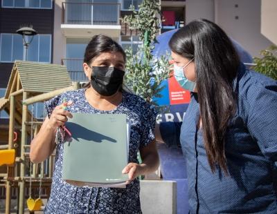Este proyecto es el primer conjunto habitacional de varios que se construyen en el Sector Altos La Chimba y que albergará a más de 5.000 familias.