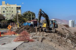 Continuan obras vias urbanas antofagasta