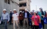 Las obras llevan un 50% de avance y en la visita los beneficiarios pudieron visualizar las mejoras en el estándar de calidad que ha implementado el Gobierno de la Presidenta Michelle Bachelet.