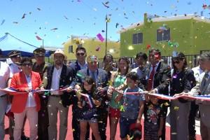 El proyecto habitacional beneficia a 65 familias de la Comuna y a pesar de las complicaciones en la construcción las familias se mostraron contentas con las viviendas