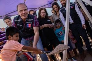 """Ministro de Vivienda y Urbanismo, Cristián Monckeberg, participó de la primera piedra perteneciente a los proyectos habitacionales """"Los Tamarugos"""" y """"Los Nogales"""""""